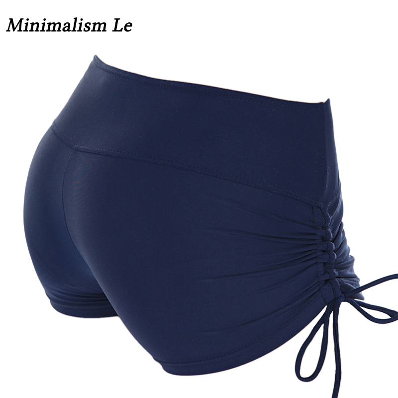 Minimalism Le 2018 Sports Shorts Quick Dry Bikini Bottom Bandage Underwear Women Solid Bikini Panties Sexy Bathing Suit sexy minimalism bikini top