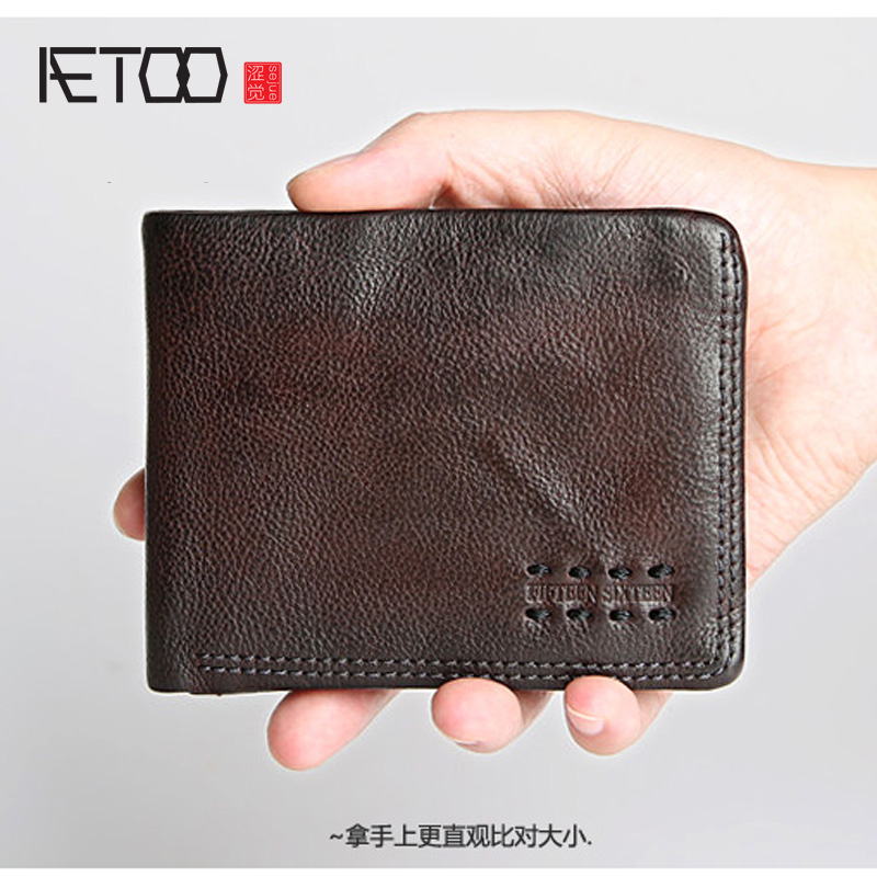 AETOO 2017 Fashion Genuine Leather Women Wallet Bifold Wallet ID Card Holder Coin Purse With Double Zipper WomenVintage wallet 2018 fashion genuine leather women wallet bi fold wallets id card holder coin purse with double zipper small women s purse