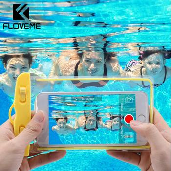 """FLOVEME Waterproof Smartphone Case For Phone Pouch Bag 6.0"""" Underwater Luminous Phone Case For iPhone XR Huawei Xiaomi Universal"""