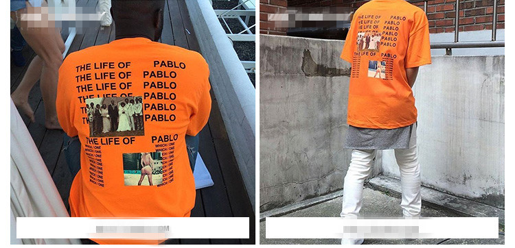 HTB1.owdQFXXXXaBXXXXq6xXFXXXf - Brand Kanye West T shirt I Feel like Pablo Kanye Orange Tee PTC 107