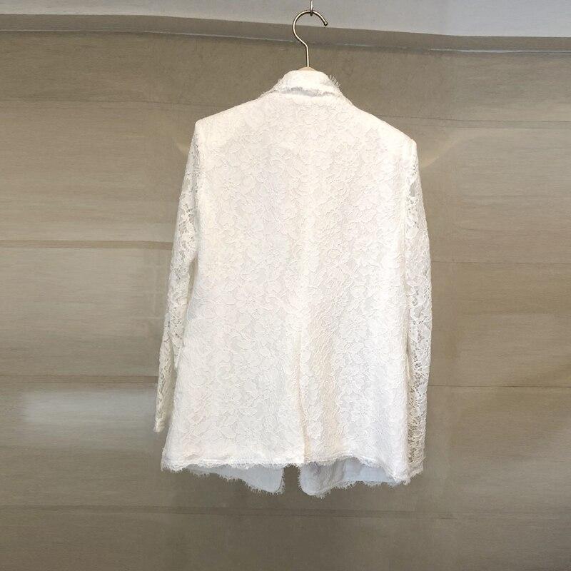 Bllocue 고품질 고급 디자이너 런웨이 자켓 코트 2018 여름 여성 패션 꽃 자수 자켓 겉옷-에서베이식 쟈켓부터 여성 의류 의  그룹 2