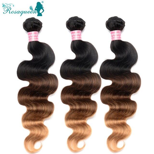 Brazilain Virgin Remy Hair Body Wave Ombre Hair Extensions Three Tone 1B/4/27 3 Pcs/Lot Human Hair Weave Brazilian Body Wave