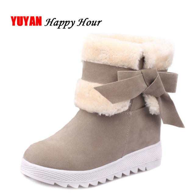 39abe882299 Nuevo 2017 invierno Zapatos mujeres Botas de nieve caliente de la felpa para  el invierno frío