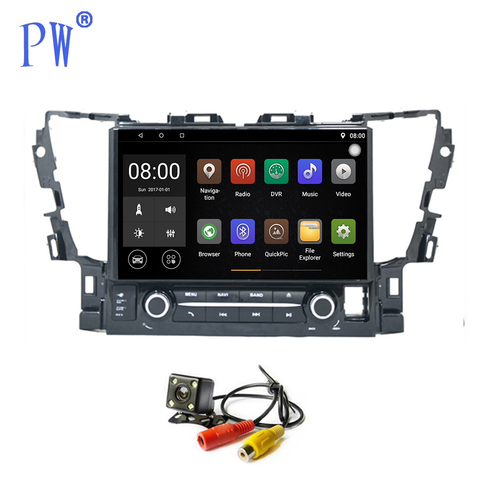 Android 7.1 voiture GPS Radio Navigation pour Toyota Alphard 2015-2017 voiture multimédia Audio stéréo Bluetooth WIFI voiture Stere