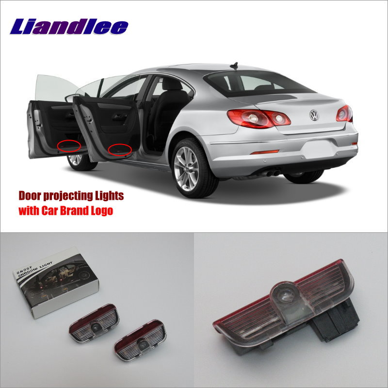 Liandlee Car Courtesy Doors Lights For VolksWagen VW CC 2009~2015/Magotan 2007~2011/ Projector Welcome Light Ghost Shadow Lamp