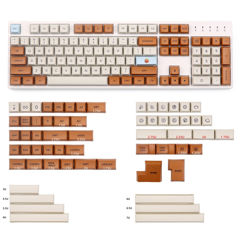 xda profile 165 keys pbt materila compatible with cherry mx mechanical keyboard