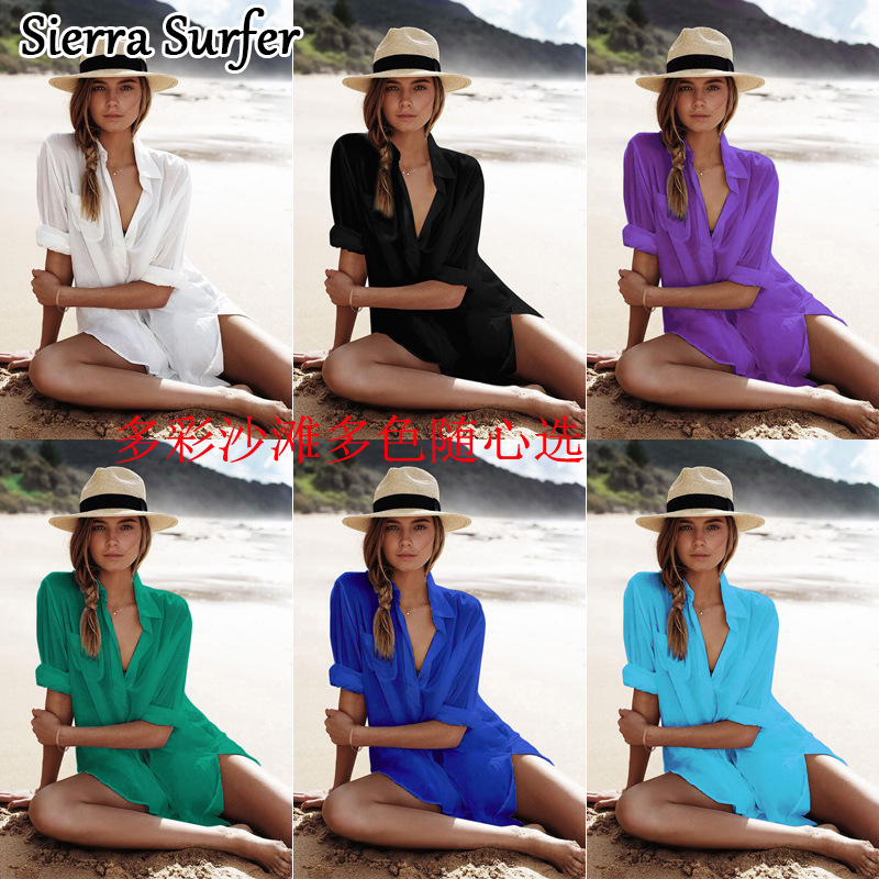 Women Beach Dress Towel Cover Ups Woman Sarongs 2018 Cardigan The Up Swimsuit New Cotton Shirt Long Sleeve Size Sexy Beach все цены