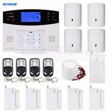 DIYSECUR 99 Wireless 7 Wired Defense Zones Gsm Sim Alarm System Kit Pet-Immune Pir Motion Detector