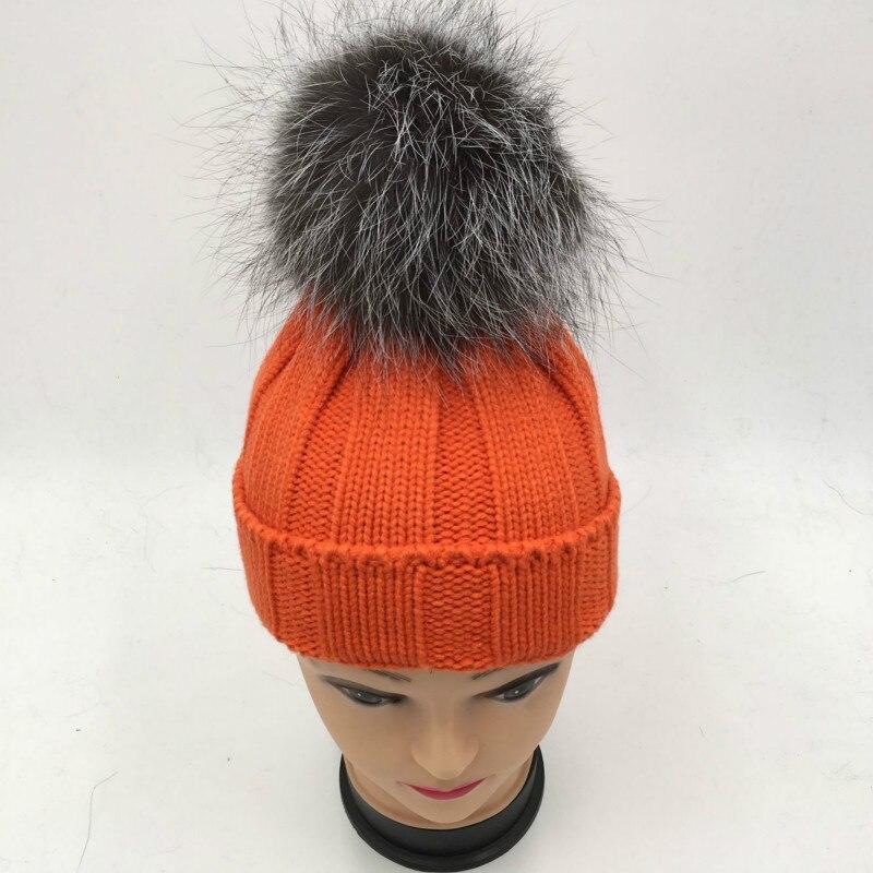... Fox Pieles de animales pompom invierno Pieles de animales sombrero para  niños chica gruesa caliente punto POM bola gorros cap en Sombreros y Gorras  de ... f4e7c673df41