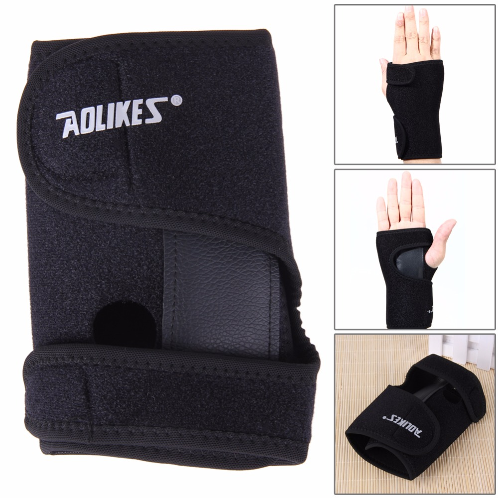Driving gloves for arthritic hands - Aolikes Fitness Strength Bandage Brace Band Hand Support Gloves Wristband Protector Carpal Tunnel Splint Arthritis Sprains