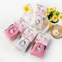Cute Lovely Cartoon Pink Hello Kitty 3.5mm In Ear Stereo Earphones Hellokitty Earbud With Microphone For Phones With Storage Bag