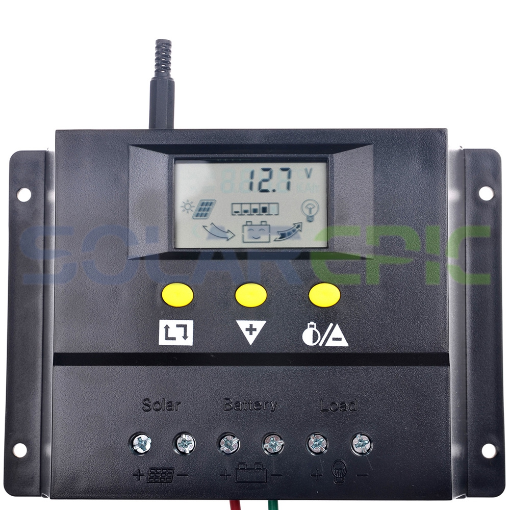 80A PWM Solar Regulator 12/24V Auto Battery Panel Charger Controller 960W/1920W With LCD Display 12v 24v 40a mppt pwm solar regulator with lcd display usb intelligent streetlight three time solar charge controller y solar