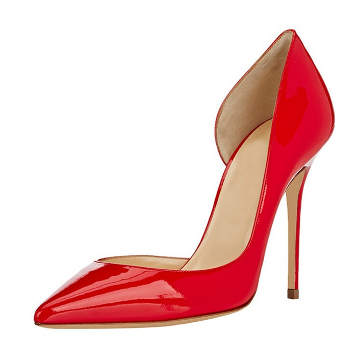 Women Pumps Super Thin High Heels Shoes 12cm Black Stiletto Pointed Toe Woman Shoes Sexy Party Shoes For Women Plus Size C014A