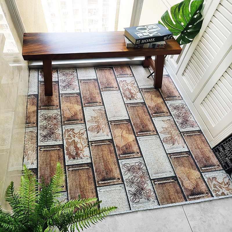 Kolor cegły wzór pcv odcinek pętli drutu drzwi mata dostosowywanie wejście dywan wodoodporne antypoślizgowe łazienka mata podłogowa zewnątrz dywan