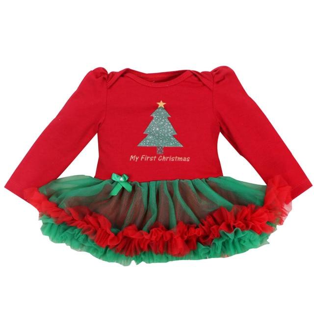 30a0b3ffd50f Newborn Dress Baby Clothes Girls Christmas Rompers Ruffle Tutu ...