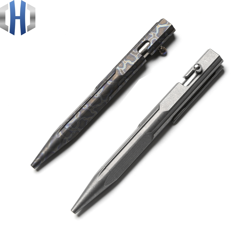 Titanium Tactical Pen Girl Self-defense Pen Broken Window Defense Supplies EDC Tool Pen defense tactical pen self defense supplies self defense pen tactical pen sharp head personal defense tool