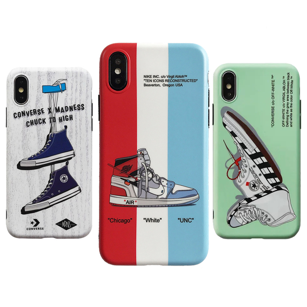 6c0651db25b63f Detail Feedback Questions about New Air Jordan AJ1 Ow off Suprem Soft  silicone cover case for iphone 6 6S 7 7 plus 8 X XR XS MAX 10 blue white  phone cases ...