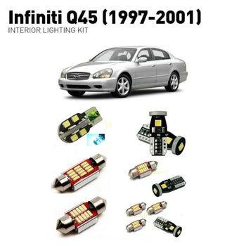 Led interior lights For Infiniti q45 1997-2001  18pc Led Lights For Cars lighting kit automotive bulbs Canbus