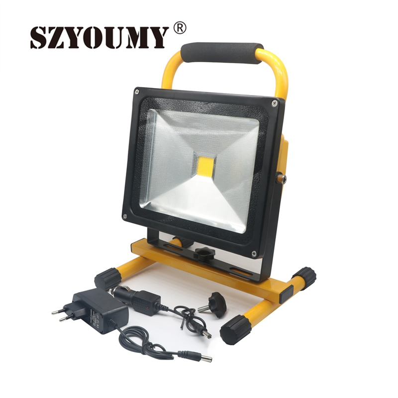 Led Flood Light Rechargeable 20w: SZYOUMY Portable Led Floodlight 10W 20W 30W 50W LED