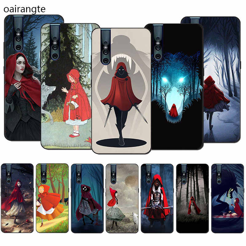 Little Red Riding Hood caso do telefone do Silicone para VIVO V15 V11 Pro V9 V7 V5 Y17 Y55s Y69 Y71 Y81s y91C Y93 Y66 X9s
