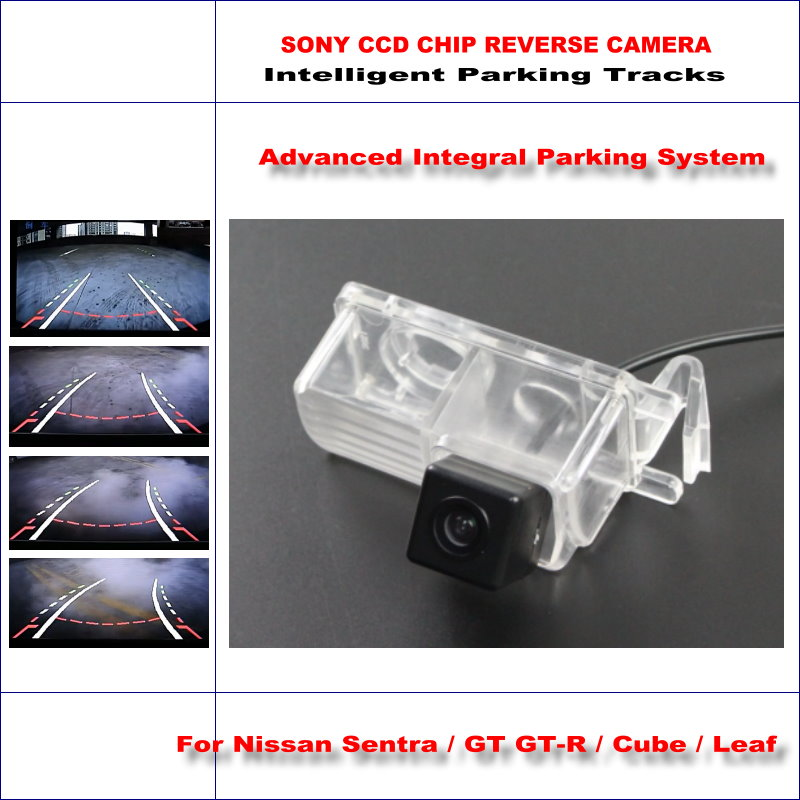 ФОТО Intelligentized Reversing Camera For Nissan Sentra / GT GT-R / Cube / Leaf Rear View Back Up 580 TV Lines Dynamic Guidance Track