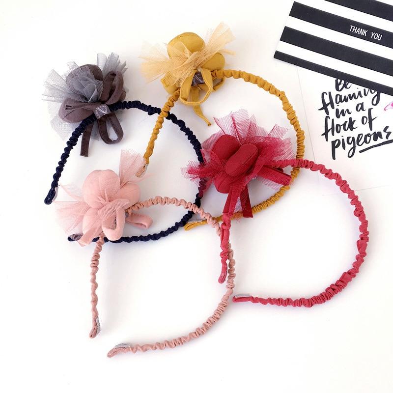 Handmade Cloth fox animal modeling Headband Girl Flower Hairbands cute hair band hair accessories for women hair ornaments tiara