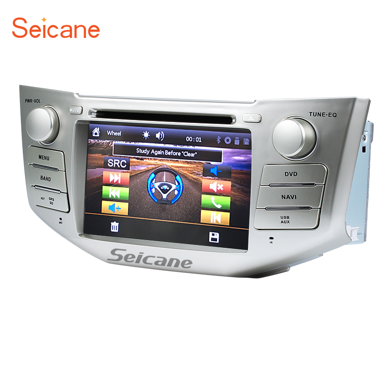 Seicane 2 Din 7 Car DVD Player For 2004-2012 Toyota Harrier GPS Navigation Bluetooth Support IPod IPhone Rearview camera DVR free camera 7 double 2 din car stereo dvd player navigation for mazda 3 mazda3 2004 2009 with gps bluetooth ipod usb sd 3g