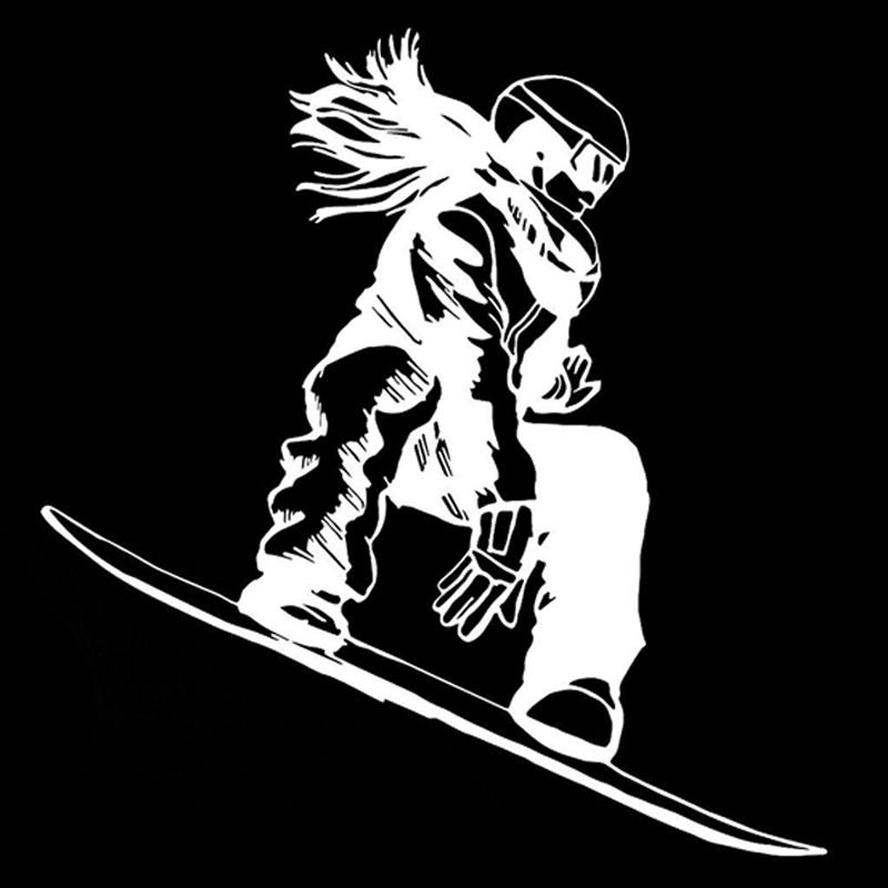 Automobiles & Motorcycles Car Stickers Automobile,15.4cm*16.2cm Interesting Snowboarder Girl Extreme Sport Car Stickers Vinyl Lu-0996 Agreeable To Taste