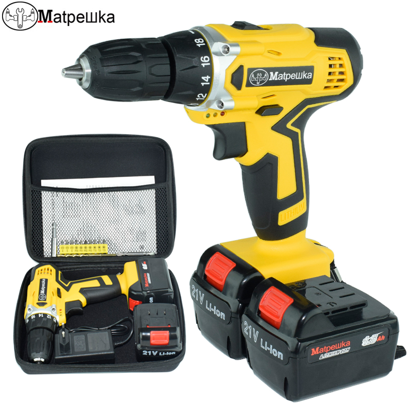 21v electric screwdriver battery Cordless electric Drill power tools Mini Drill concrete torque drill screwdriver reversible wosai 20v lithium battery max torque 380n m 4 0ah brushless electric impact wrench diy cordless drill cordless wrench