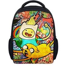 13 Zoll Cartoon Adventure Time Kinder Rucksack Kindergarten Schultasche Kinder Druck Rucksack Mädchen Jungen Mochila