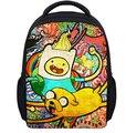 13 Pulgadas de la Historieta Adventure Time Niños Mochila Bolsa de La Escuela Jardín de Infantes Mochila Impresión Niños Chicas Chicos Mochila