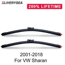 SLIVERYSEA Replace Wiper Blade for Sharan 2001-2018 Silicone Rubber Windshield Windscreen Auto Car Accessories