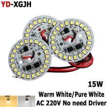 Venda quente de 15w 44mm ac 220v, led inteligente ic smd led pcb smd2835 para 3w 5w 7w 9w 12w integrado ic driver, lâmpada led fonte de luz