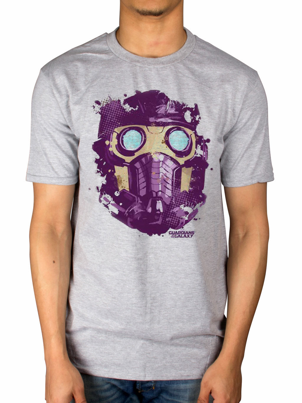 Official Guardians of The Galaxy Starlord Mask T-Shirt Avengers Iron Man Movie Funny Clothing Casual Short Sleeve T Shirts