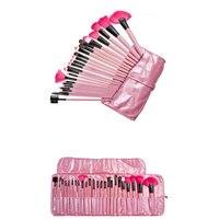 Professionale 24 PZ Rosa Spazzole di Trucco Ombretto Contorno Correttore Blush Fondazione Blending Powder Makeup Brush BR34