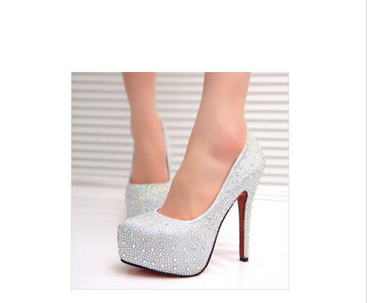 Sparkly Silver Pumps Promotion-Shop for Promotional Sparkly Silver ...
