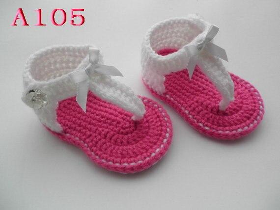 129385d56f880 US $5.21 |Crochet Baby flower Sandals,Baby Summer Shoes, Handmade Crochet  Baby girls Sandals,Barefoot sandals Size:9cm,10cm,11cm-in Sandals & Clogs  ...