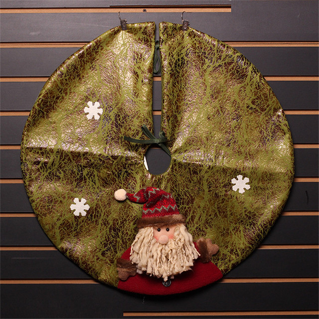 60cm Artificial Cloth Craft Christmas Tree Skirt Home Market Hotel Outdoor Ornaments Decorations
