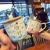 Irregular Coffee Mugs Creative Design Japanese Milk Mug Cute Cartoon Breakfast Couples Cups Ceramic Tea Cup