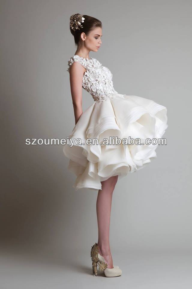 oumeiya omw74 lace top puffy organza ruffles skirt sheer