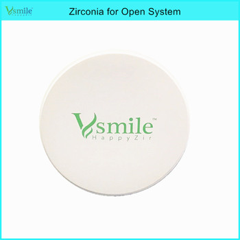 Vsmile one piece 98mm Vita 16 shades preshaded zirconia block for wieland/roland/VHF system super translucency for full crown