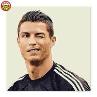Pintura digital de DIY, C Luo, jugador de fútbol, extremo, centro, capitán. Campeón mundial Fútbol, oro Globos terráqueos, guapo