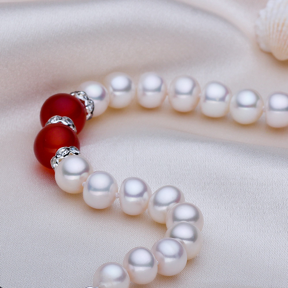 Women Gift word 925 Sterling silver real Bright pearl genuine 9mm 10mm natural freshwater pearl stone bracelet oblate flawless pWomen Gift word 925 Sterling silver real Bright pearl genuine 9mm 10mm natural freshwater pearl stone bracelet oblate flawless p