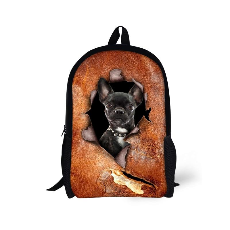 Pet Dog Cat Print School Bags for Teenager Boy Girl Animal Kids Schoolbag Student Bookbag Children Casual Bags Mochila Infantil