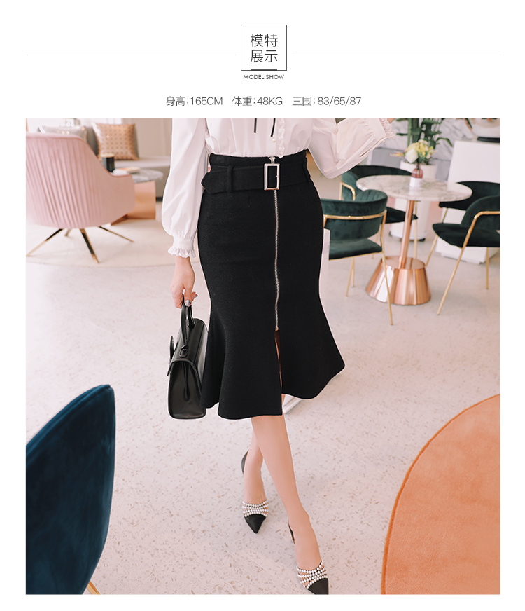 Mid-Calf Skirts Solid D18DSK010 5