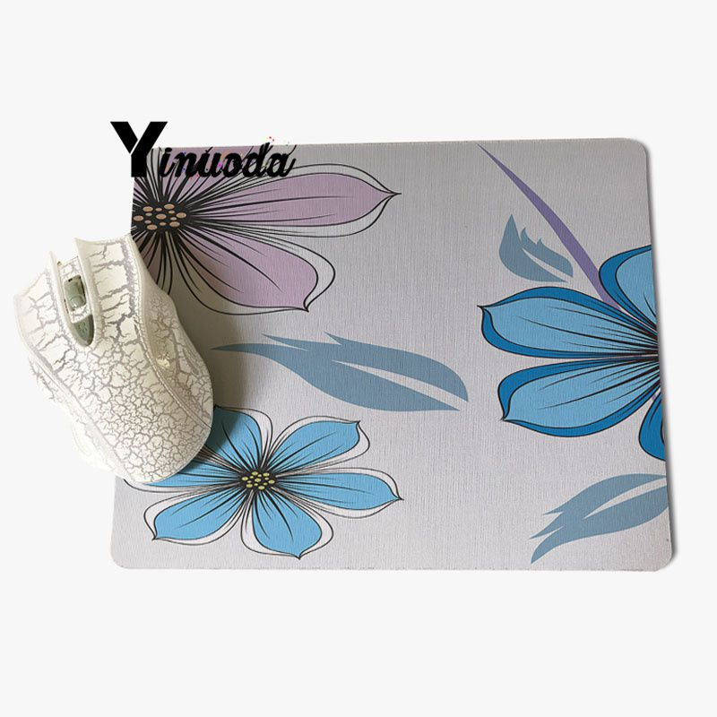 Yinuoda Top Quality Cartoon flower pattern Computer Gaming Mousemats Size for 180x220x2mm and 250x290x2mm Rubber Mousemats