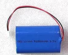 Frete grátis 3.7v 4400mah 5200mah 6400mah 18650 li-ion bateria recarregável 18650-2 p bateria de íon de lítio