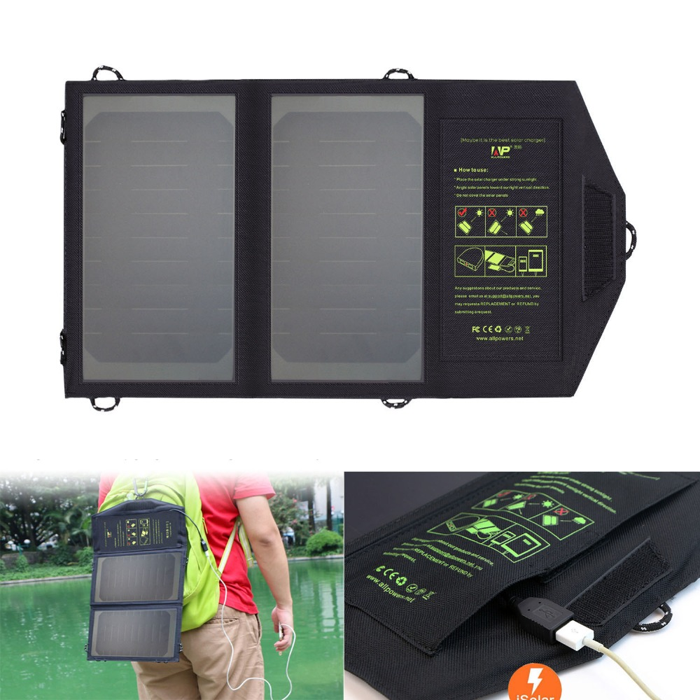 ALLPOWERS Phone Chargers Solar Phone Chargers for iPhone 6 6s 7 8 10 X iPad Samsung LG Sony Nokia and More Cell Phones.