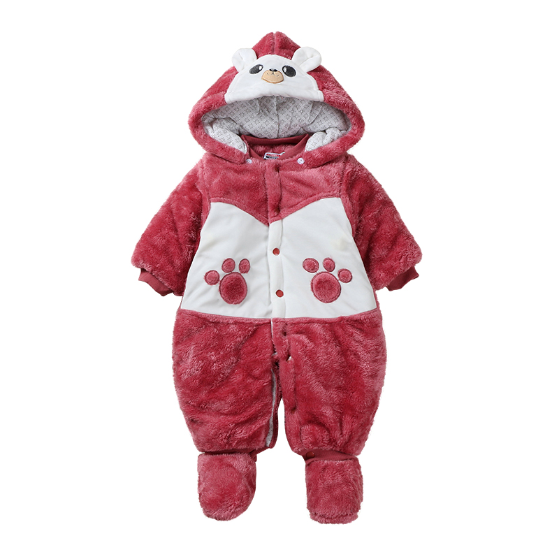 2017 Infant Romper Baby Boys Girls Jumpsuit New born Bebe Clothing Hooded Toddler Baby Clothes Cute Stitch Romper Baby Costumes 2017 baby knitted rompers girls jumpsuit roupas de bebe wool baby romper overalls infant toddler clothes girl clothing 12m 5y