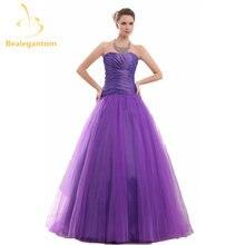 Bealegantom модное фиолетовое вечернее платье трапециевидной